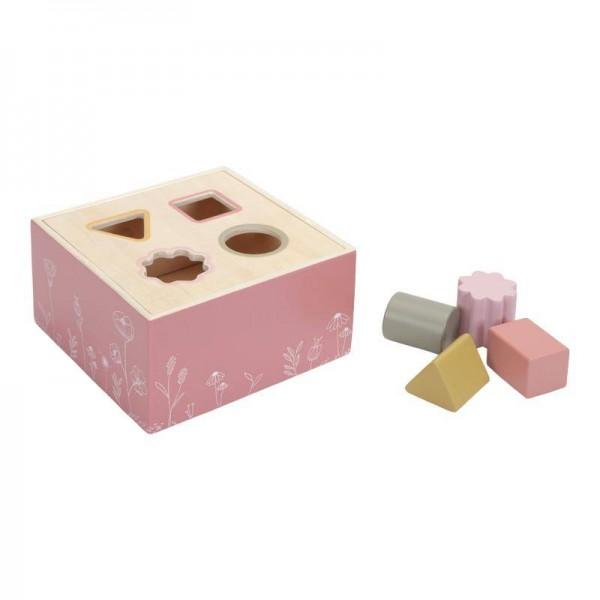 Holz Formen-Steckspiel pink Flowers