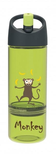Bottle 2in1 300ml + 100ml Snack grün