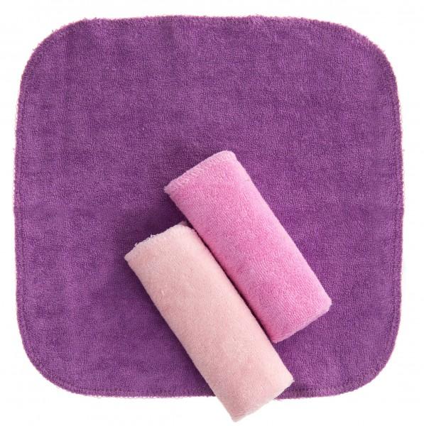 Waschtücher 3 Stk. pink