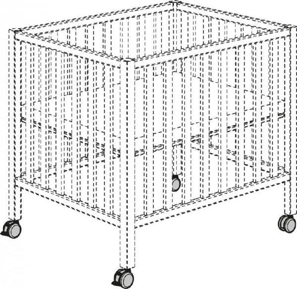 SCOTTY Rollensatz grau-schwarz 2xBremse