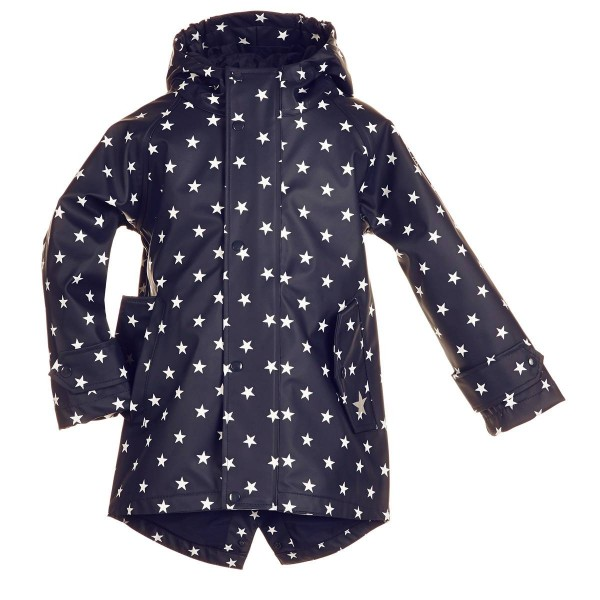Regenmantel 104 Hafencity Softskin marine Sterne