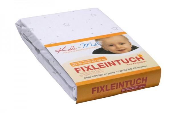 Fixleintuch Jersey 70/140 stern silber