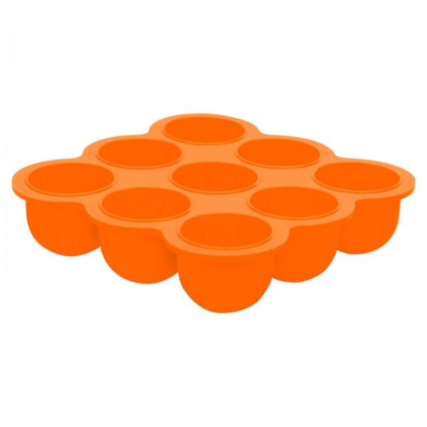 Silikonschale mit Deckel orange