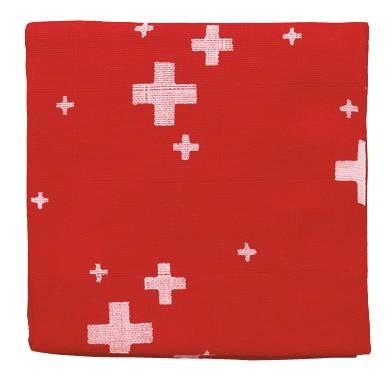 ZEWI-Baby-Gaze Schweiz 75 rot bedruckt Nuscheli