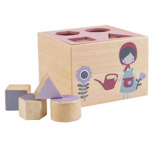Formensteckspiel aus Holz Farm Mädchen