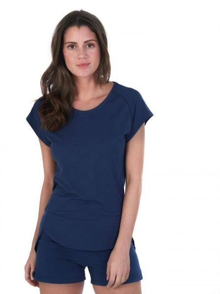 Women M T-Shirt midnight blue Balance