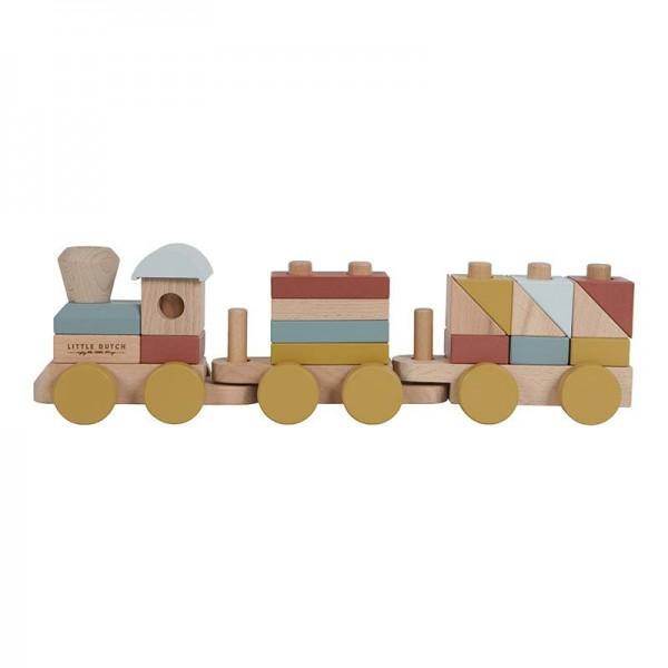 Holzzug mit Steck-Formen Pure