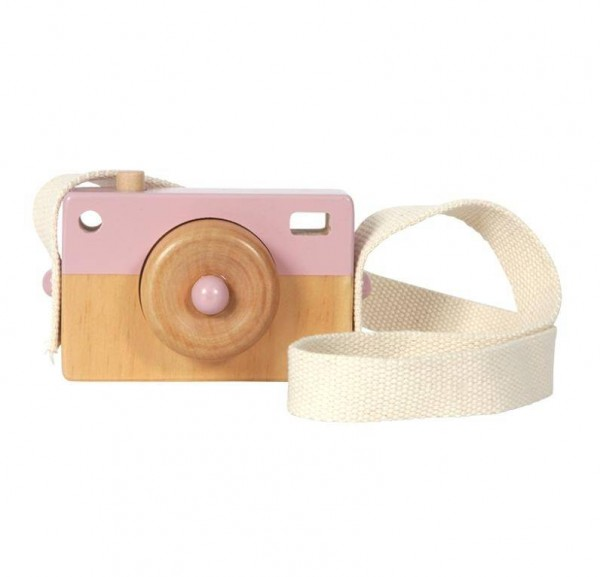 Holz-Kamera adventure pink