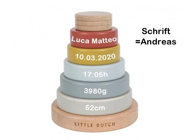 Stapelturm personalisiert Pure