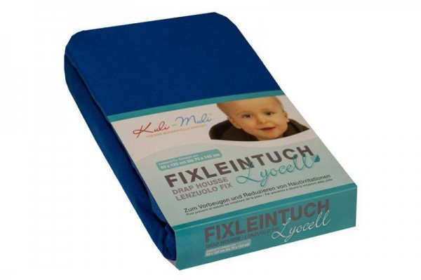 Lyocell Fixleintuch 90/45 dunkelblau