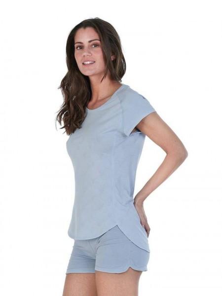 Women L T-Shirt ice blue Balance