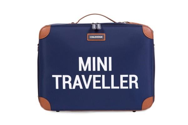 Mini Traveller Koffer navy-weiss