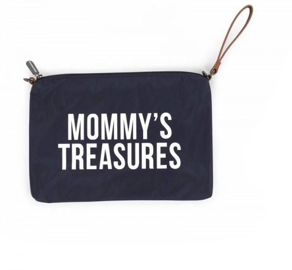 Mommy Clutch Navy Weiss