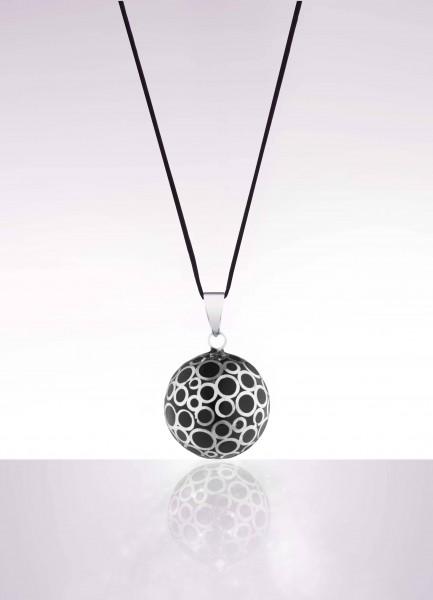 Bola Bubble Schwarz mit silbernen Kreisen