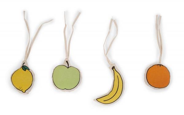 4 Anhänger Spielbogen Obst