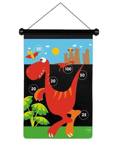 Dart-Spiel Dino gross mit Magnetpfeilen