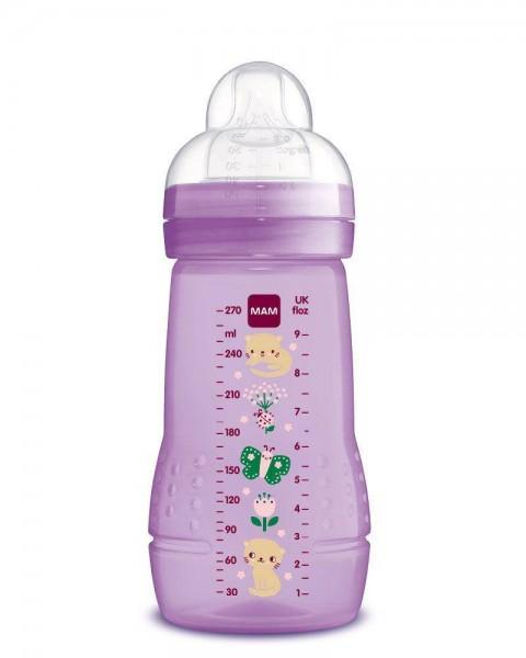 Easy Active Babyflasche 270ml Katze/Schmetterling Violett