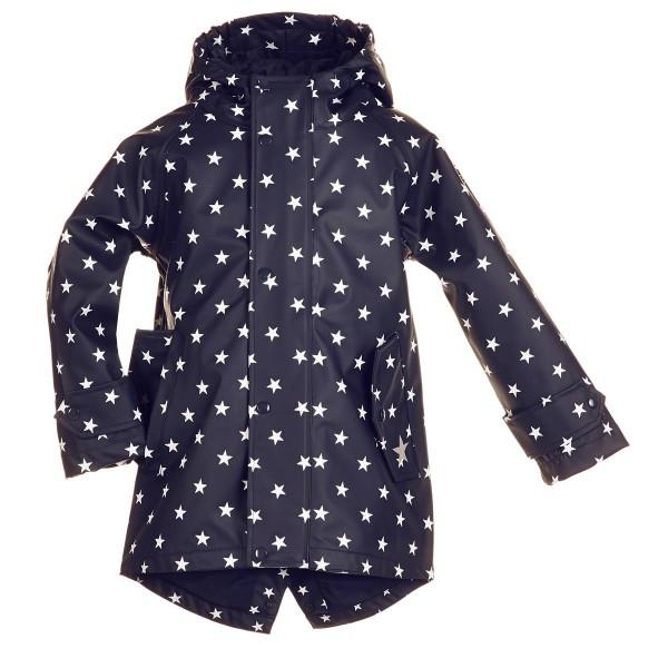 Regenmantel 98 Hafencity Softskin marine Sterne