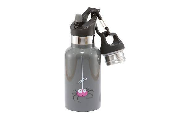 TEMPflask 350ml 2 Verschlüsse grau