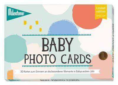 Baby Foto Karten Cotton Candy Deutsch