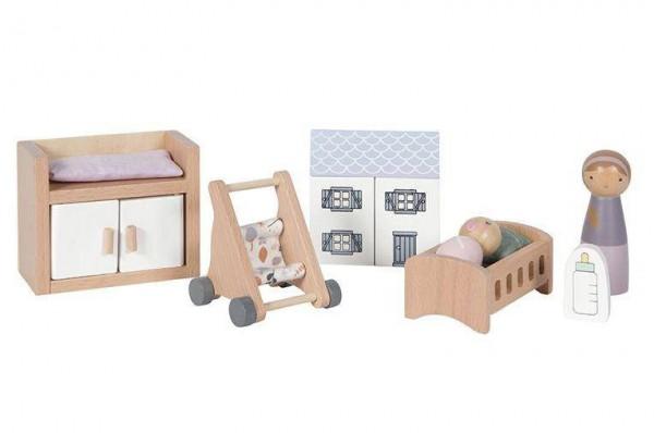 Puppenhaus Spielset Babyzimmer 11-teilig