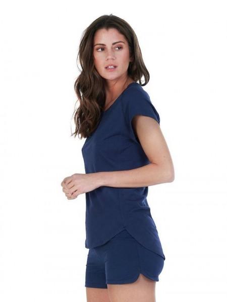 Women XS T-Shirt midnight blue Balance