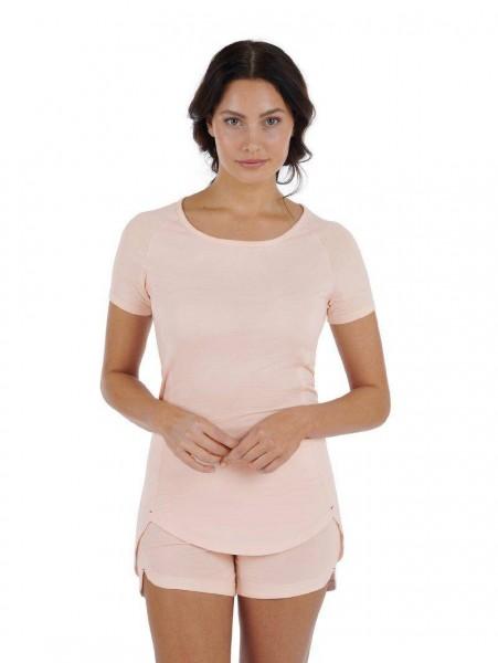 Women XS T-shirt Soft peach Balance