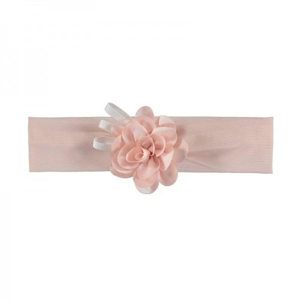 Haarband rosa mit Blume