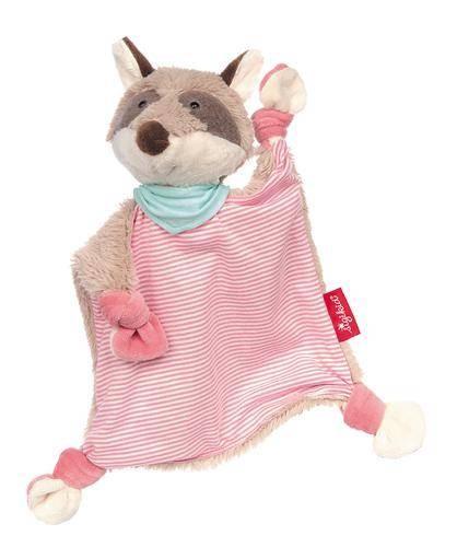 Schnuffeltuch Waschbär rosa