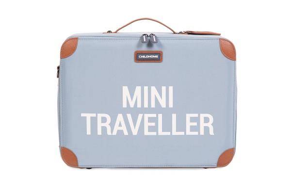 Mini Traveller Koffer grau-weiss