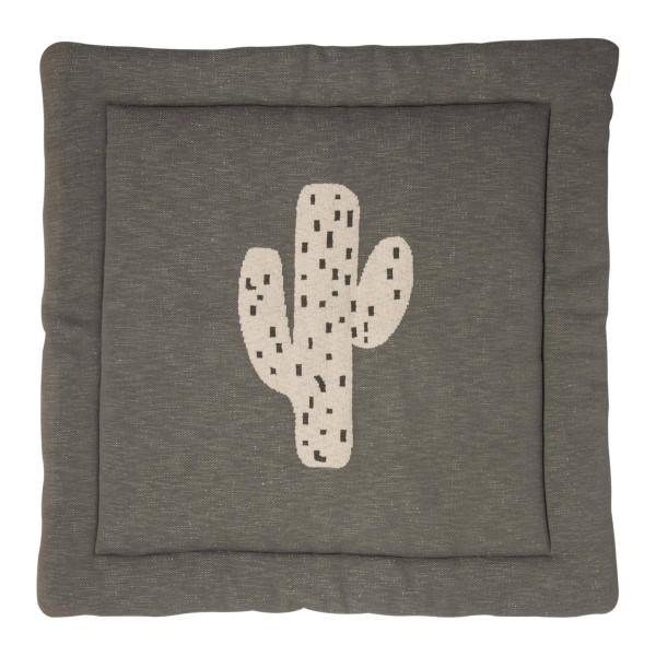 Krabbeldecke gestrickt 100x100 Kaktus