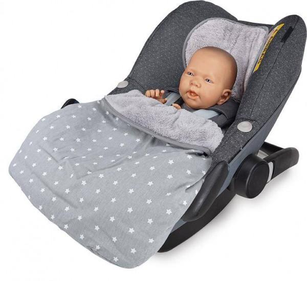 STELLA Cosybag für Babyschale stars grau