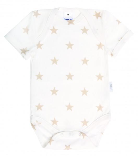Body kurzarm 44 white/beige Stars