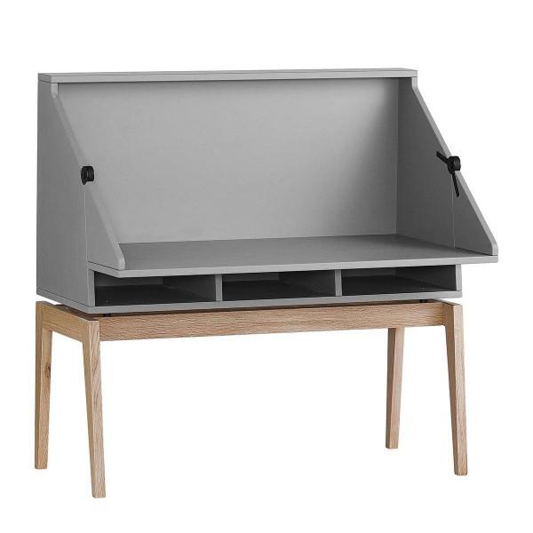 Luna Schreibtisch mit Beine Grau/Eiche