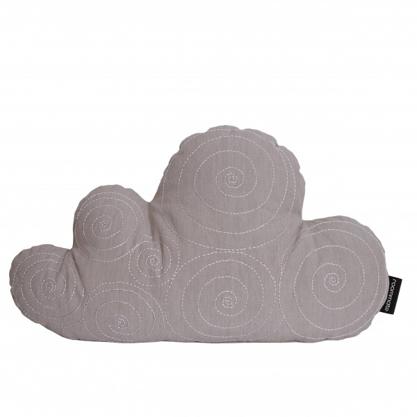 Wolken Kissen Grau