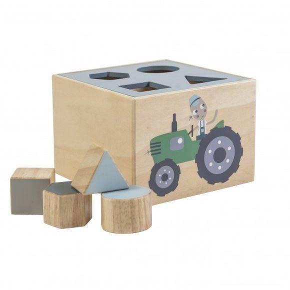 Formensteckspiel aus Holz Farm