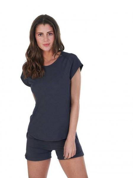 Women M T-shirt Deep Grey Balance