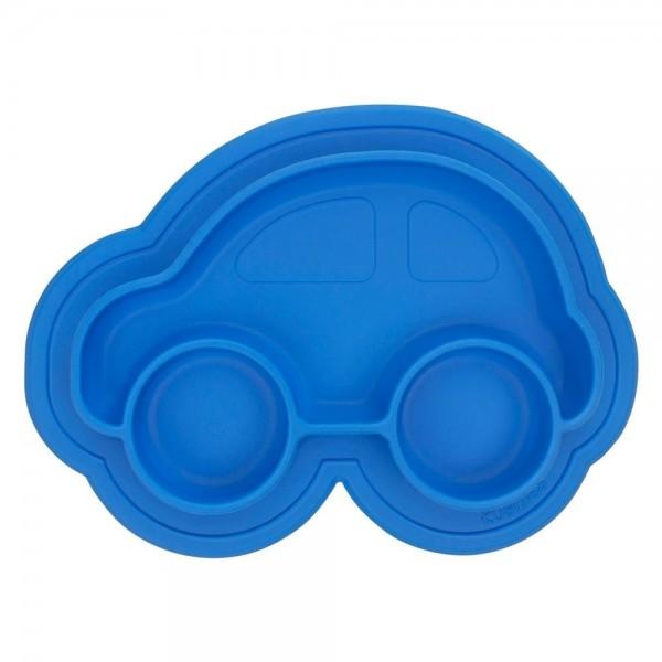 Silikonteller blau Auto