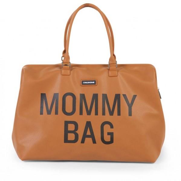 Mommy Bag Lederlook Braun