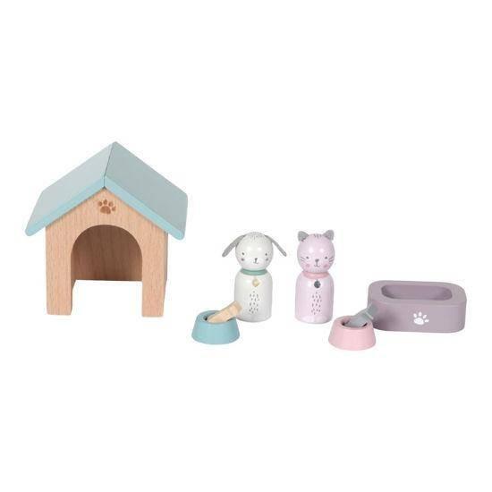 Puppenhaus Spielset Haustiere 8-teilig