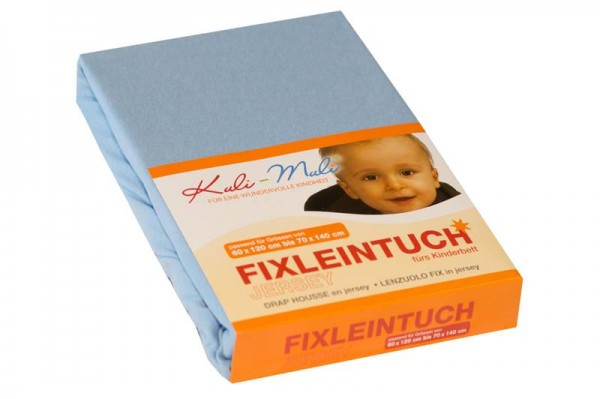 Fixleintuch Jersey 70/140 hellblau