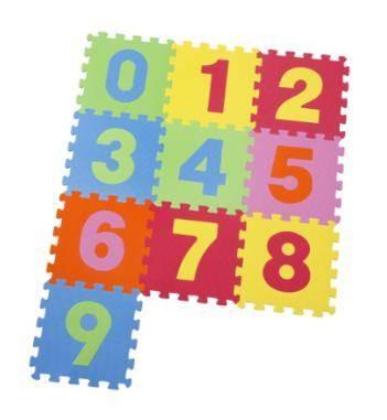 Puzzlematte Zahlen 10tlg