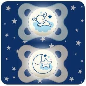 Night 0-6Mt blau Silikonnuggi
