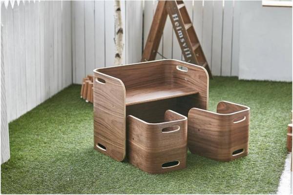 ColoColo Tisch & 2 Stühle Walnut