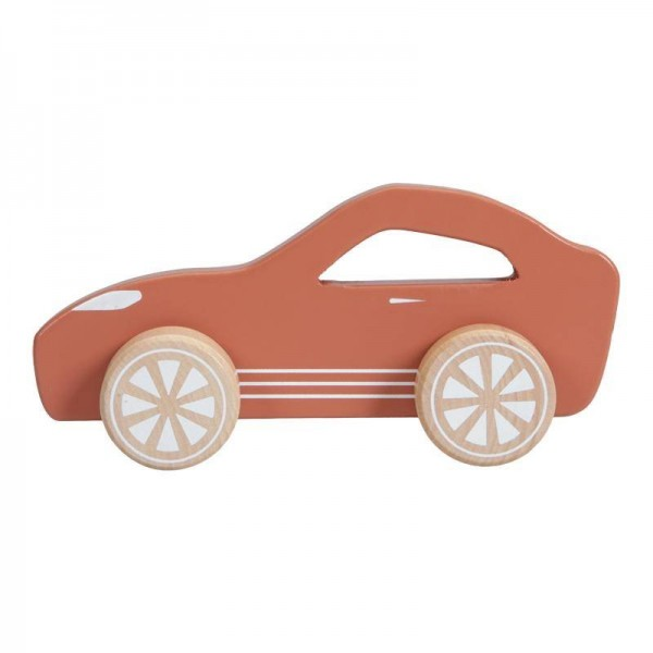 Holz Sportwagen rot