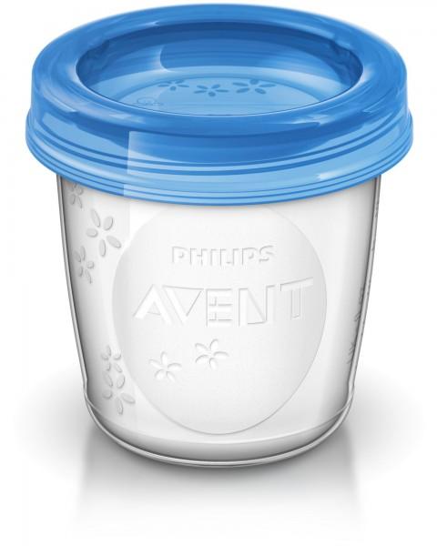 Becher-Set+2 Adapter 180ml für Muttermilch-Aufbewahrung