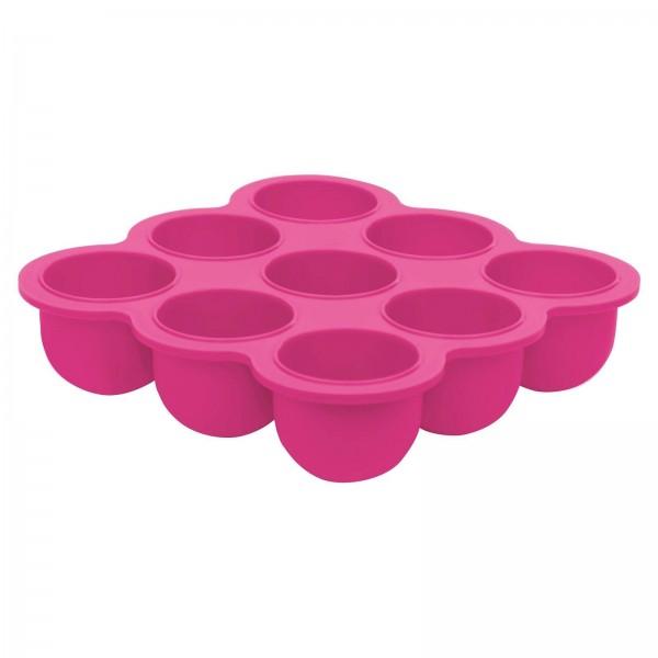 Silikonschale mit Deckel pink