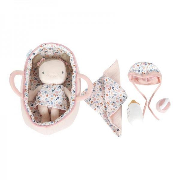 Babypuppe Rosa mit Tasche