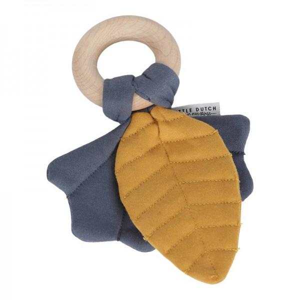 Knister-Spielzeug Blätter gelb/blau