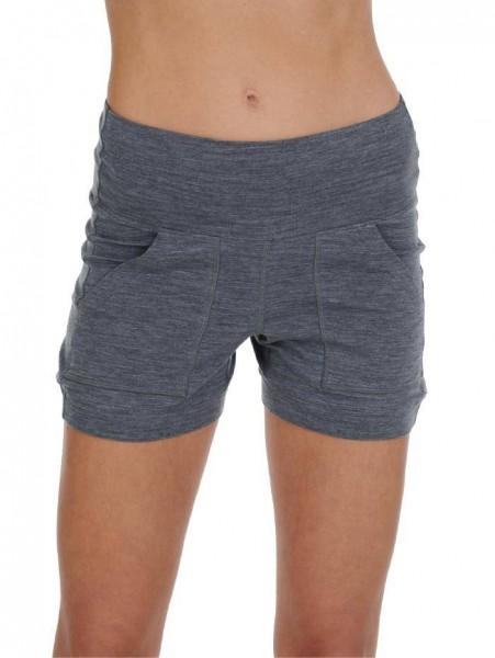 Women M Shorts dark grey stay warm